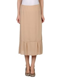 L'autre Chose L' Autre Chose 3 4 Length Skirts Skin Color