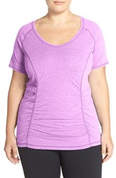 Zella Plus Size Women's 'Z 6' Tee Purple Daylight