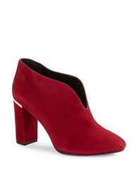 Kate Spade Dillon Suede Booties Red