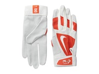 Nike Mvp Edge Youth Team Orange Bone White White Cycling Gloves Gray