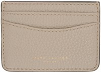 Marc Jacobs Taupe Gotham City Card Holder