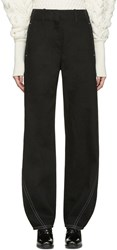 Christophe Lemaire Black Large Twisted Jeans