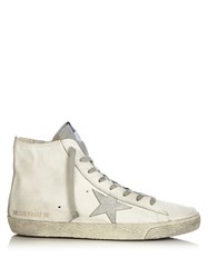 Golden Goose Francy High Top Leather Trainers White