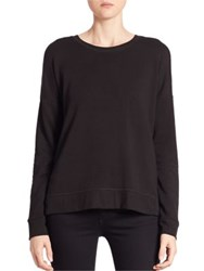 Feel The Piece Solid Roundneck Pullover Black