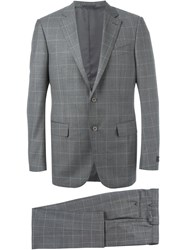 Ermenegildo Zegna Windowpane Suit Grey