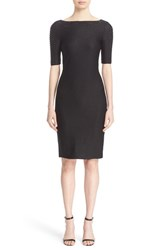 St. John Women's Collection Embellished Shimmer Knit Bateau Neck Dress