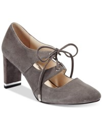 Alfani Prima Bindii Lace Up Pumps Only At Macy's Women's Shoes Steel