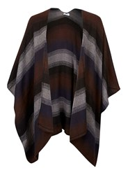Topman Brown And Black Stripe Cape