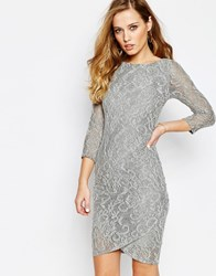 Supertrash Dhinker Dress In Lace Gray Lace