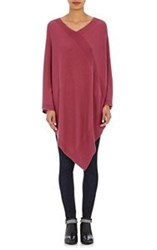 Tomas Maier Women's V Neck Poncho Red