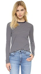 Alexander Wang Superfine Pullover Navy And Ivory