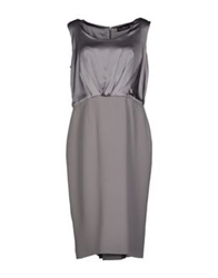 Ivan Montesi Knee Length Dresses Grey