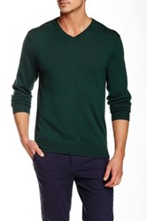 Bonobos Yorkshire Wool V Neck Sweater Green