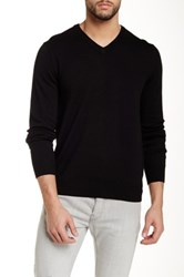 Toscano V Neck Wool Sweater Black