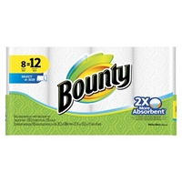 Bounty Select A Size White Paper Towels 8 Giant Rolls