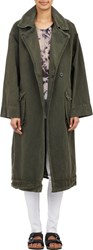 Raquel Allegra Military Trench Coat Green