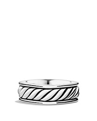 David Yurman Sculpted Cable Narrow Square Band Ring Silver