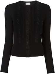 Red Valentino Lace Insert Cardigan Black