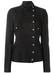 Chanel Vintage Funnel Neck Jacket Black