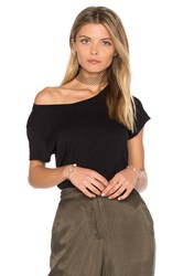 Velvet By Graham And Spencer Odelia Crew Neck Tee Black