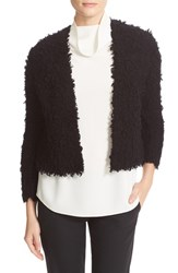 Theory Women's Garnelle Textured Wool Blend Crop Cardigan