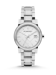 Burberry City Stainless Steel Bracelet Watch 34Mm Silver