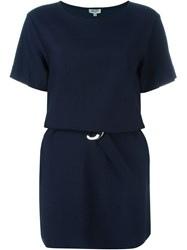 Kenzo Belted T Shirt Dress Blue