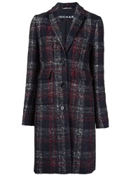 Rochas Checked Patter Coat Black