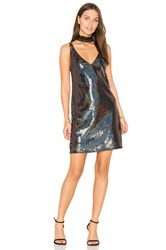 Line And Dot Thea Sequin Mini Dress Black