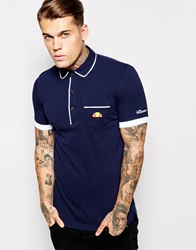 Ellesse Re Issue Polo Shirt Navy