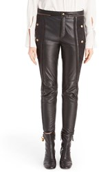 Chloe Women's Leather And Suede Biker Pants Black
