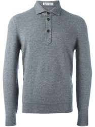 Brunello Cucinelli Polo Neck Jumper Grey