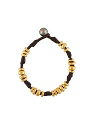 Mignot St Barth 'Donut' Bead Bracelet Brown