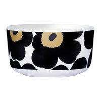 Marimekko Unikko Bowl White Black Green Small