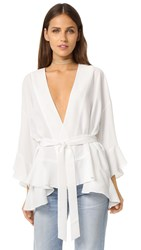 Designers Remix Gaby Wrap Blouse White
