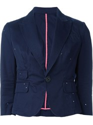 Dsquared2 Three Quarter Length Sleeve Blazer Blue