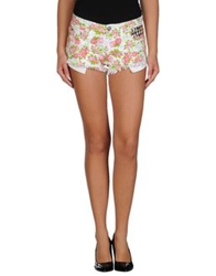 Reverse Denim Shorts Pink