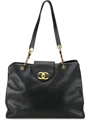 Chanel Vintage 'Supermodel' Tote Black