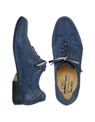 Pakerson Blue Italian Handmade Leather Lace Up Shoes