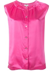 Kenzo Sleeveless Blouse Pink And Purple