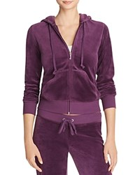 Juicy Couture Sport Black Label Robertson Velour Zip Hoodie In Aubergine 100 Bloomingdale's Exclusive Aubergine Dark Purple