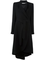 Alice Olivia Asymmetrical Belted Coat Black