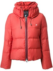 Loveless Zipped Puffer Jacket Yellow Orange