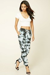 Forever 21 Tie Dye Sweatpants Charcoal White