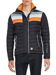Superdry Double Zip Chevron Jacket Black Run