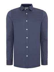 Only And Sons All Over Polka Dot Long Sleeve Shirt Navy