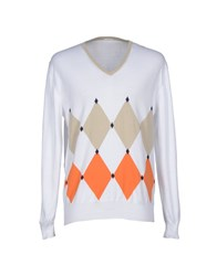 Heritage Knitwear Jumpers Men White