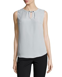 Laundry By Shelli Segal Sleeveless Keyhole Front Top Chrome 041