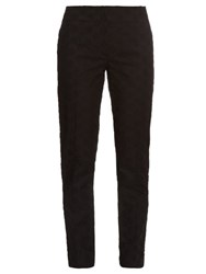 Nina Ricci Broderie Anglaise Tapered Leg Trousers Black