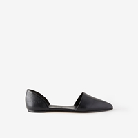 Common Projects Leather Slip On Sandal Black Leather